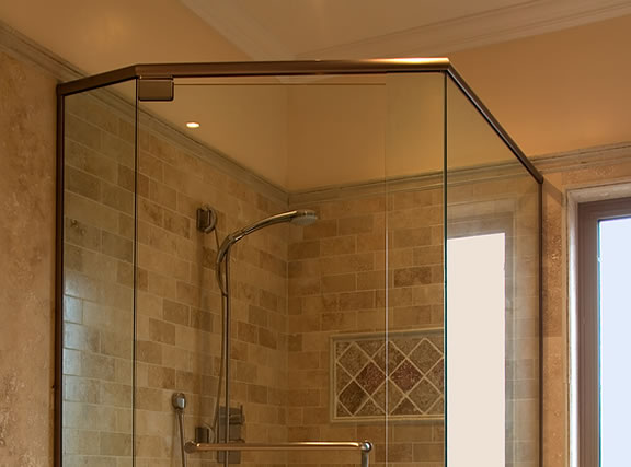 custom glass shower enclosures in