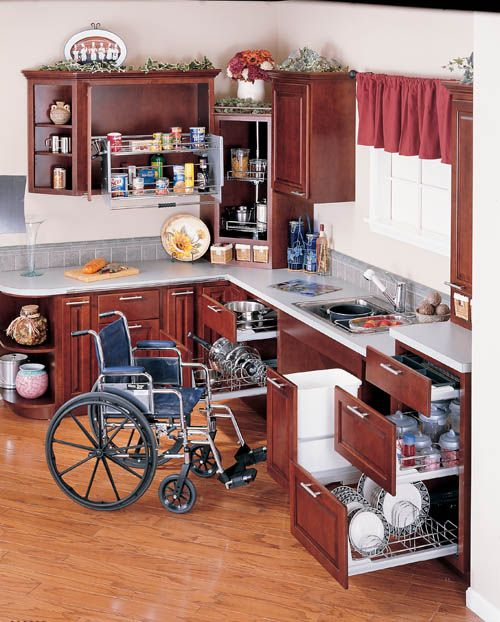 Wheelchair friendly cabinets and kitchens in pennsylvania alone eagle remodeling - Accessible kitchen design ...