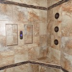 tile shower inlays and benches
