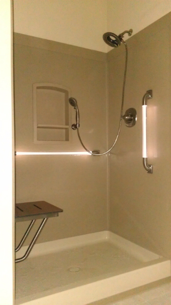 hershey pa handicap bathrooms with led grab bar installations