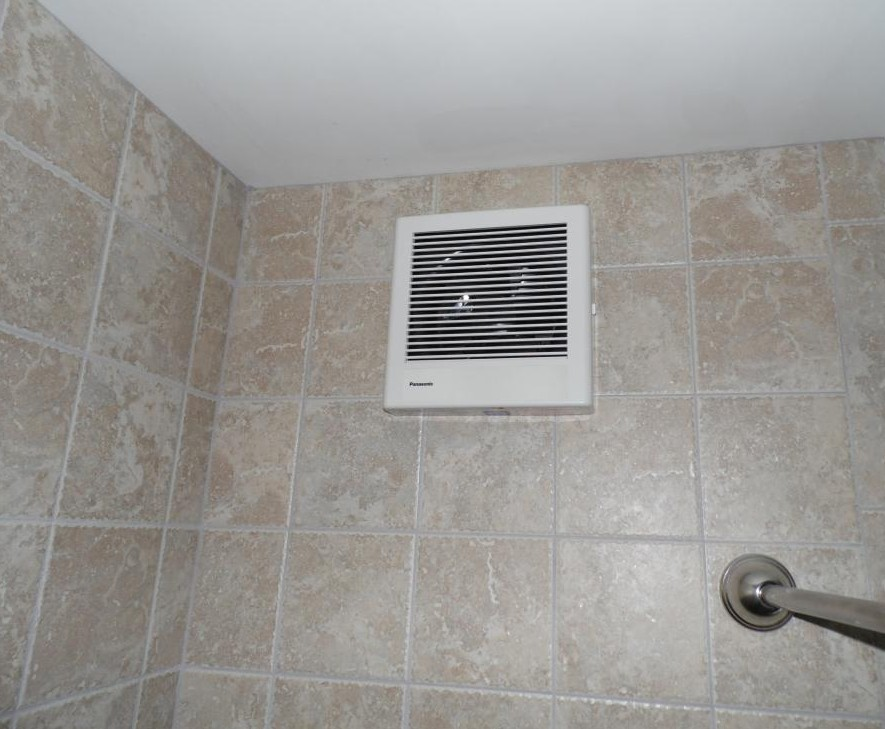 Wall Vent Fan Installation In A Harrisburg, Pa Bathroom.