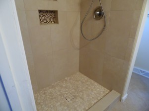 Vertical Tile Pattern in Small Shower