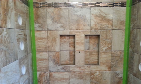 Grouting a Tile Shower