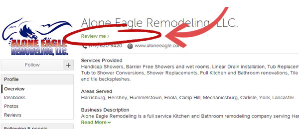 Houzz Reviews For Alone Eagle Remodeling