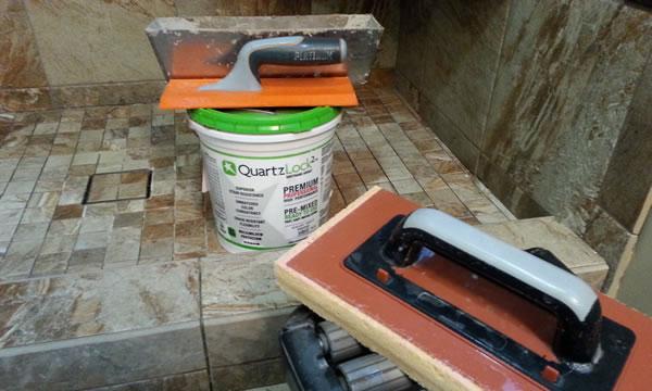 QuartzLock2 Grouting Materials and Tools.