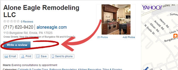 Yahoo Reviews Alone Eagle Remodeling