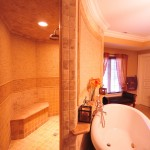 tile showers with custom made shampoo niches in middletown pa
