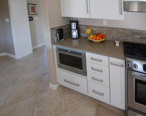 An under cabinet microwave is a great option when accessibility is a concern