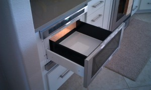 Cleaning an under cabinet microwave is easier and quickly done with better access.