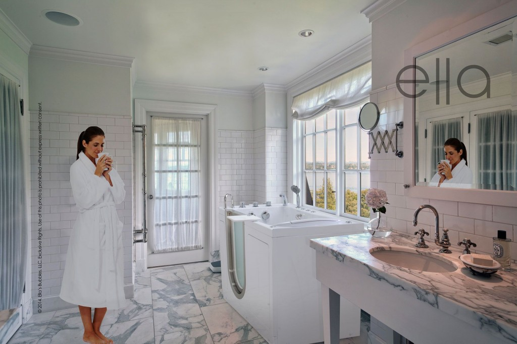 Adding a Walk In Bathtub to your full bathroom remodel brings all the amenities to life