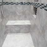 Linear Drain Shower with bench and niches in Harrisburg, Pa