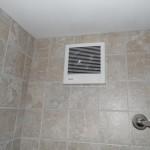 Wall vent fan installation in a Harrisburg, Pa bathroom.