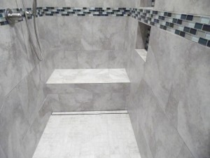barrier free shower with linear drain in Mechanicsburg, pa