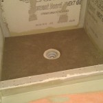 traditional mud shower floor for a tile shower in mechanicsburg, pennsylvania