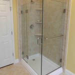 Shower replacement in camp hill, pa with 3 granite cornershelves