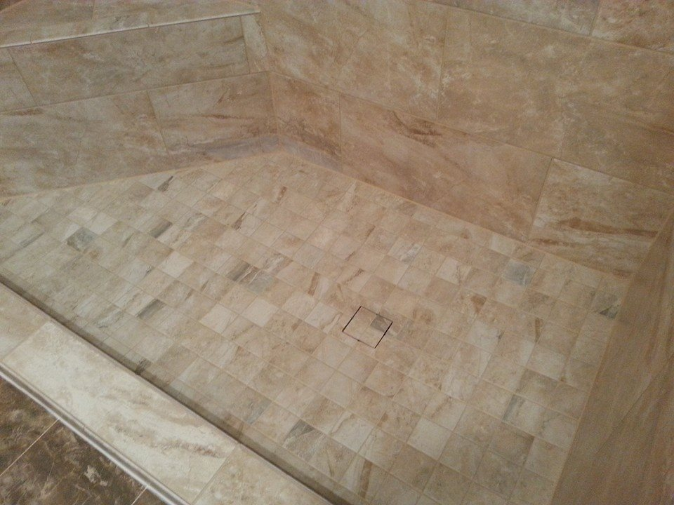 tile top shower drain and built in shower seats in enola, pa