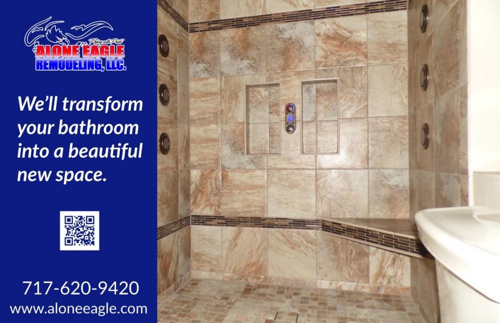 custom tiled shower in harrisburg, pennsylvania