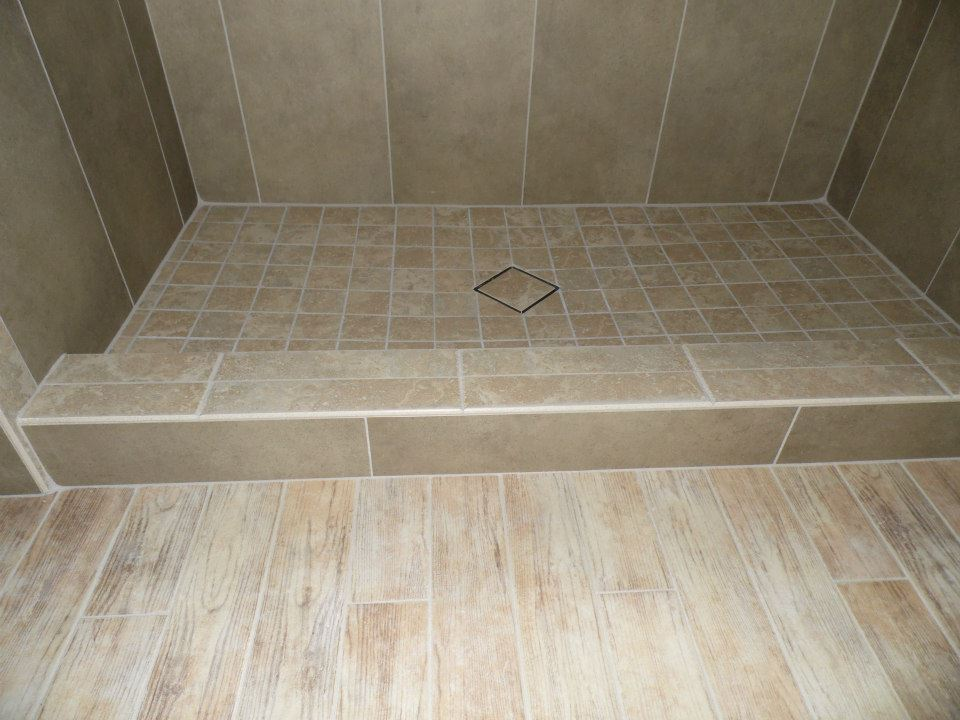 diagonal pattern tile top drain in a custom harrisburg, pa shower