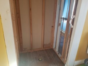 removing a fiberglass shower surround in Gettysburg, PA