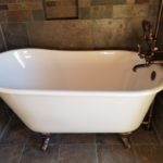 Claw Foot Bathtub installation with Slate Tile walls – Part 1