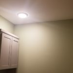 Panasonic Whisper Fan and Flush Mount LED's in a Small Bathroom